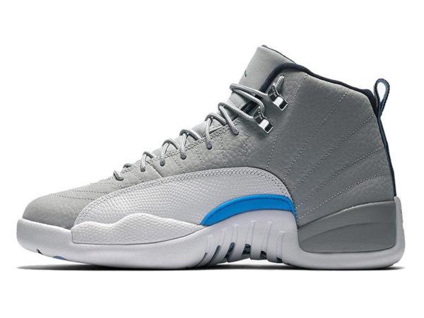 Nike Air Jordan 12 Retro серые с белым (40-46)