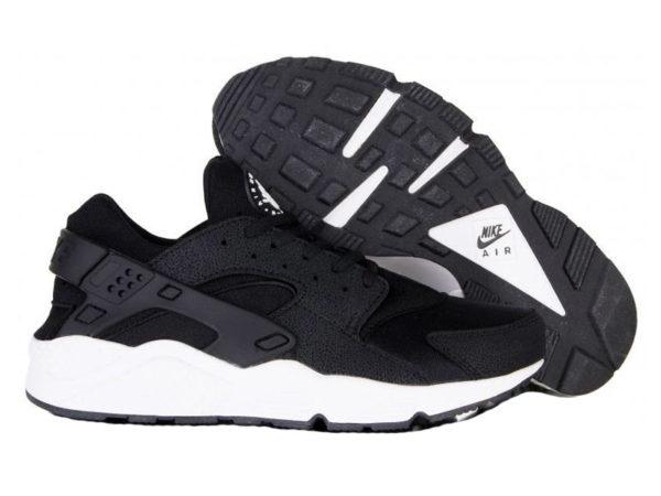 Nike Air Huarache Ultra черные с белым (40-45)