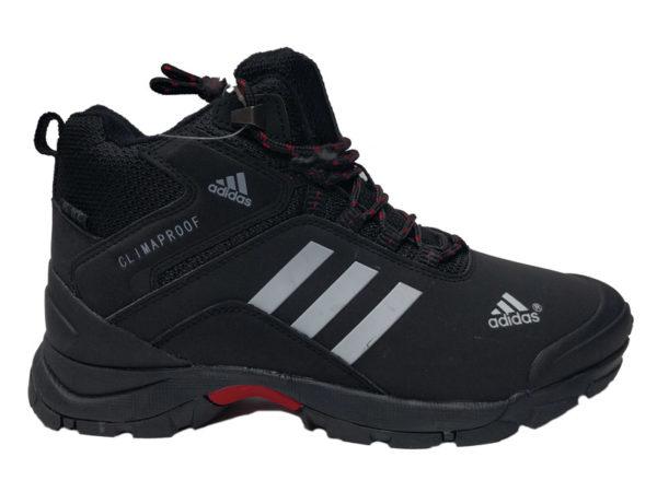 Adidas Climaproof Mid на меху черные с белым (40-46)