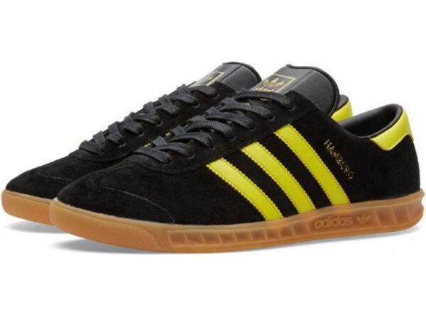 Adidas Hamburg черные с желтым (40-45)