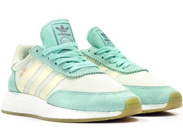 Adidas Iniki Runner Boost бирюзовые с белым (35-40)