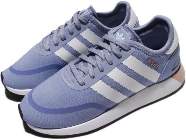 Adidas N-5923 Iniki Runner голубые с белым (35-40)