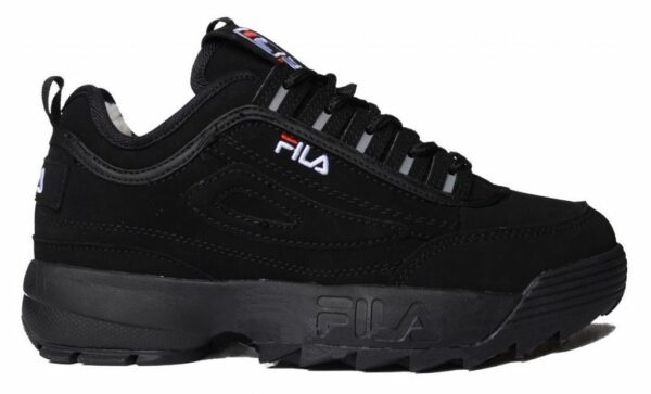 Зимние Fila Disruptor 2 с мехом Black черные (35-44)