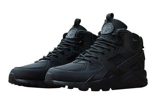 Зимние Nike Air Huarache Winter Black черные (35-40)