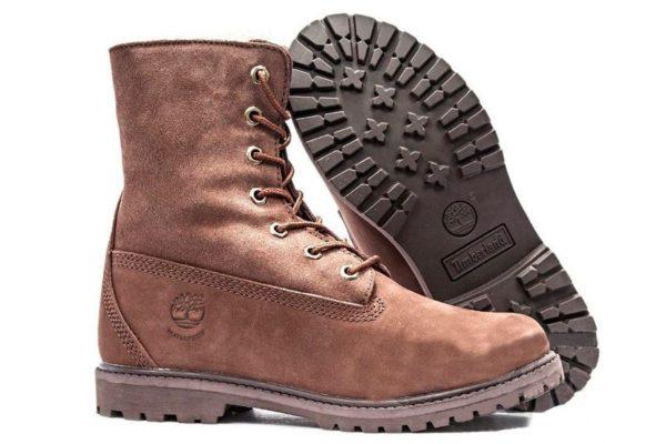 Ботинки Timberland Teddy Fleece brown коричневые 35-40