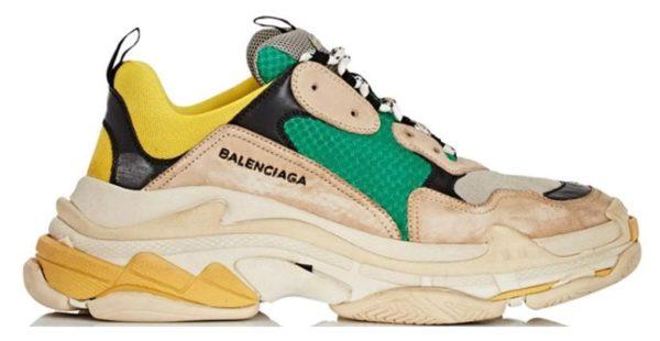 Balenciaga Triple S beige/Green/Yellow женские мужские (35-44)