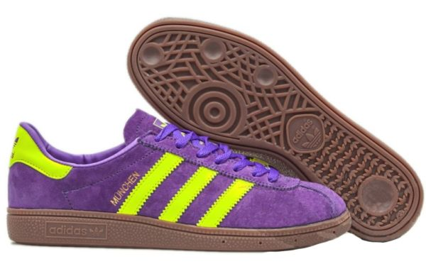 Adidas Munchen Purple-Yellow фиолетовые с желтым (40-44)