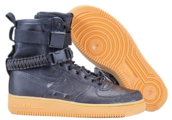 Кроссовки Nike Air Force 1 SF Black черные (35-45)