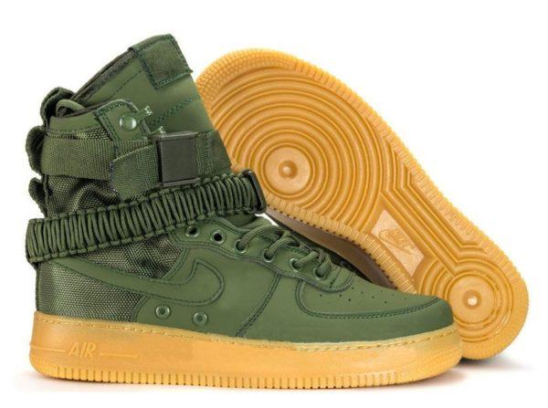 Кроссовки Nike Air Force 1 SF green зеленые (35-45)