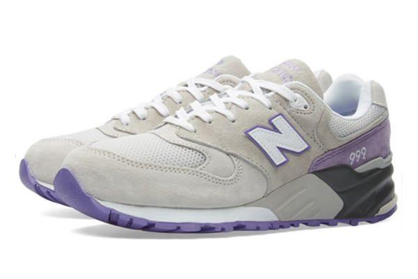 New Balance 999 серые с фиолетовым (36-40)