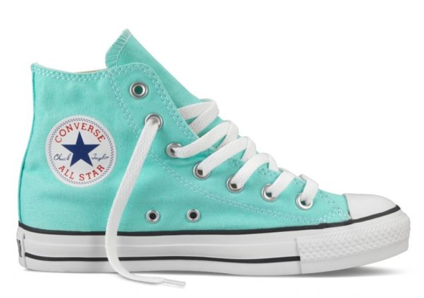 Converse All Star высокие бирюзовые (35-40)