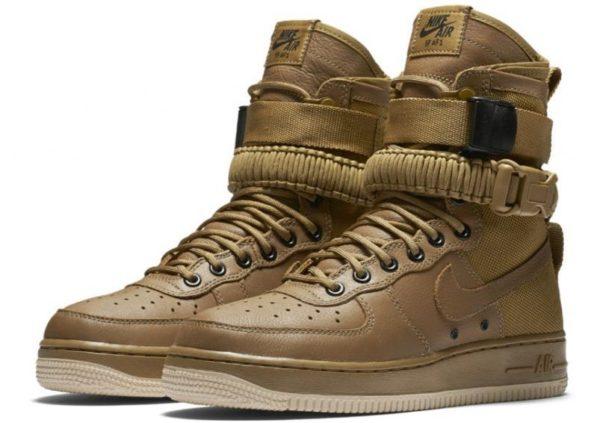Кроссовки Nike Air Force 1 SF brown коричневые (40-45)