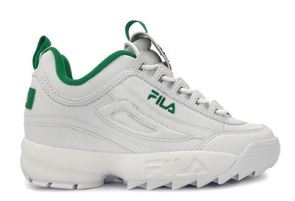 Fila Disruptor 2 бело-зеленые (35-39)