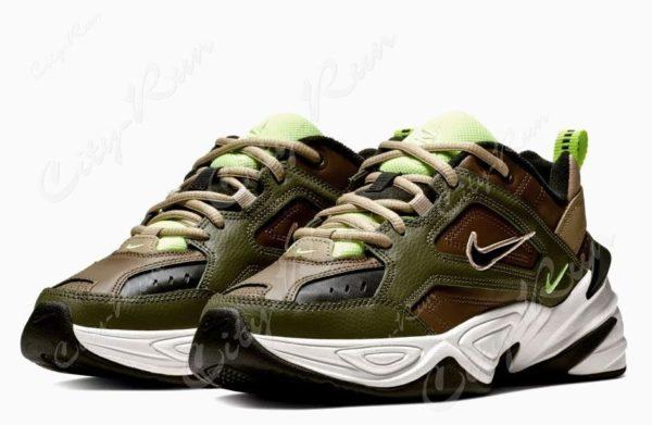 Nike M2K Tekno камуфляж-хаки (35-44)