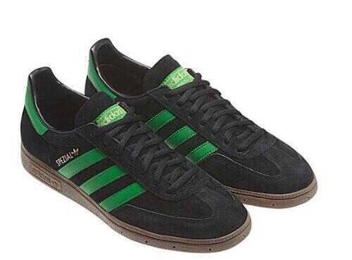 Adidas Spezial черные с зеленым мужские (40-44)
