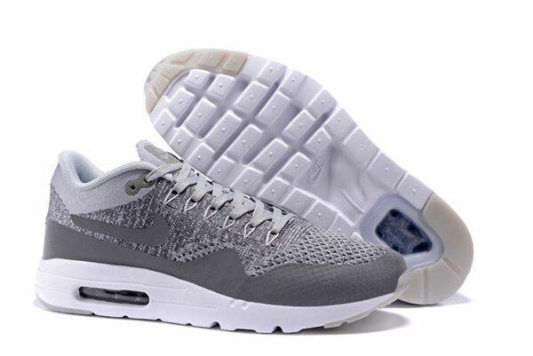 Nike Air Max 87 Ultra Flyknit Серо-белые 40-44