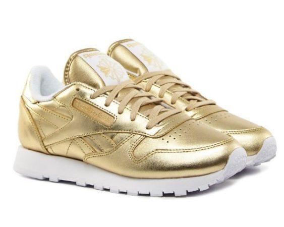 Золотые кроссовки Reebok