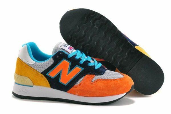 New Balance 670 оранжевые с желтым и синим (35-44)