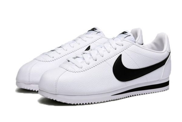 Nike Cortez белые с черным (40-45)
