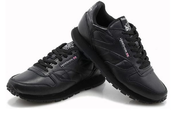 Reebok Classic Leather (Black) черные (35-44)