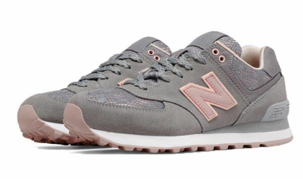 New Balance 574 темно-серые с розовым (36-40)