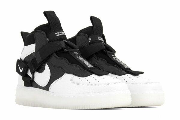 Nike Air Force 1  Utility Mid белые/чёрные (40-44)