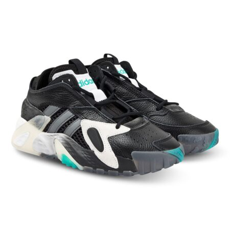Adidas Streetball чёрно-белые кожаные мужские (40-44)