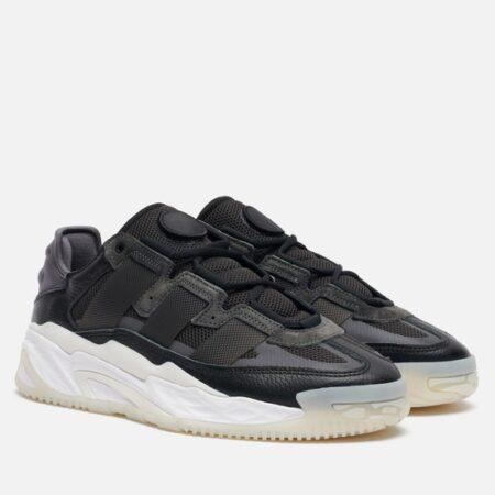 Adidas Niteball черные кожа-нубук мужские (40-44)