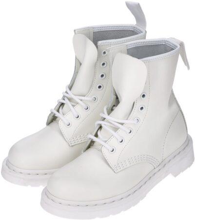 Ботинки Dr. Martens 1460 белые кожаные женские (35-39)
