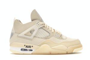 Nike Air Jordan 4 off White Sail бежевые (35-44)
