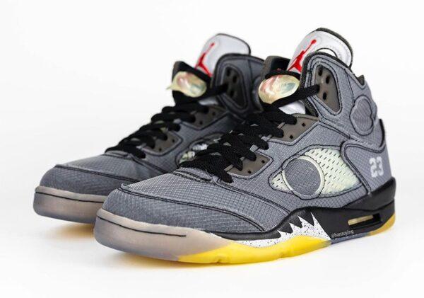 Nike Air Jordan 5 Retro SP серые мужские (40-44)