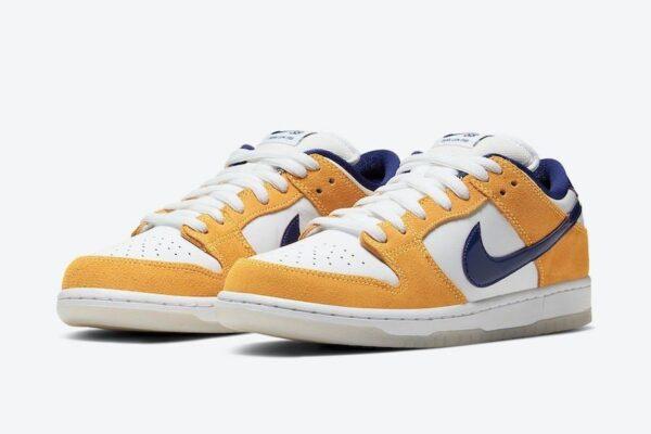 Nike SB Dunk Low Laser Orange песочно-белые кожа-нубук мужские (40-44)