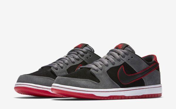 Nike SB Zoom Dunk Low Pro серо-черные нубук мужские (40-44)