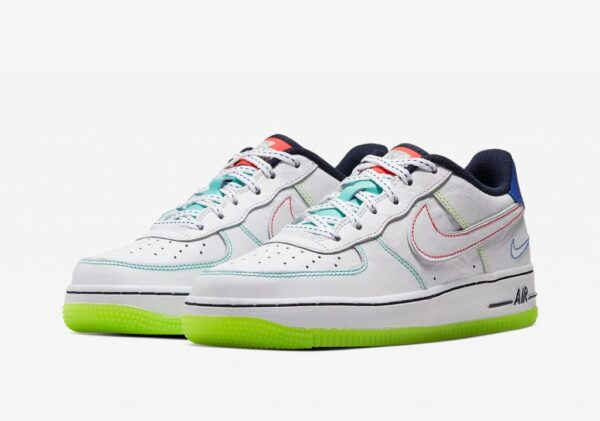 Nike Air Force 1 Low outside the lines GS белые кожаные мужские (40-44)